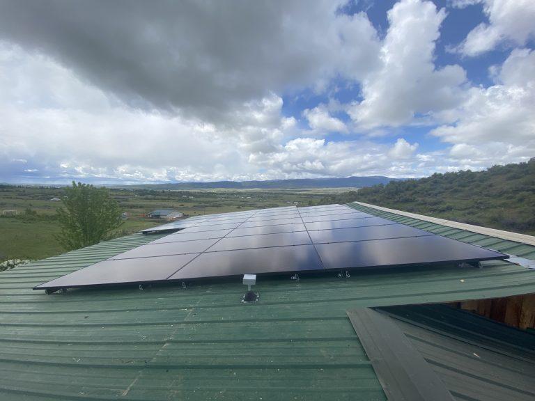 Solar panel installation