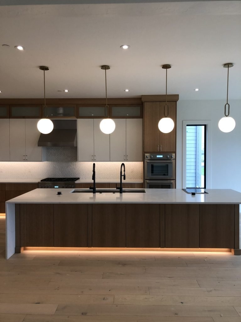 Residential custom kitchen electrical lighting