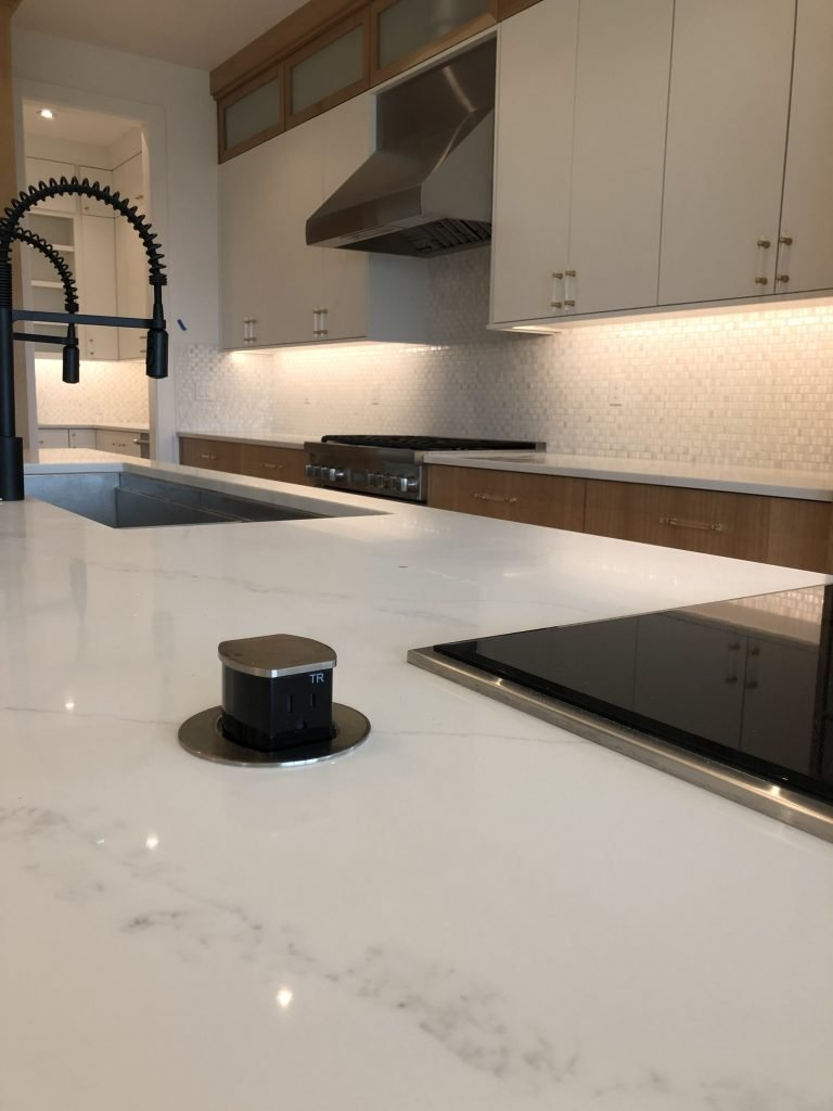 Residential custom pop up electrical outlet